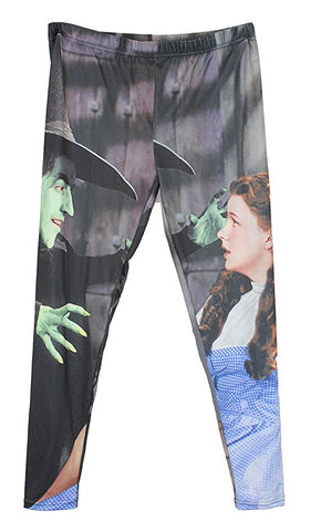 "Wizard of Oz ""Dorothy and the Wicked Witch"" Girls Juniors Leggings (Large)"