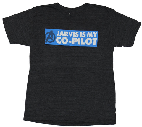 The Avengers (Marvel Comics) Mens T-Shirt - Jarvis is My Co-Pilot Image