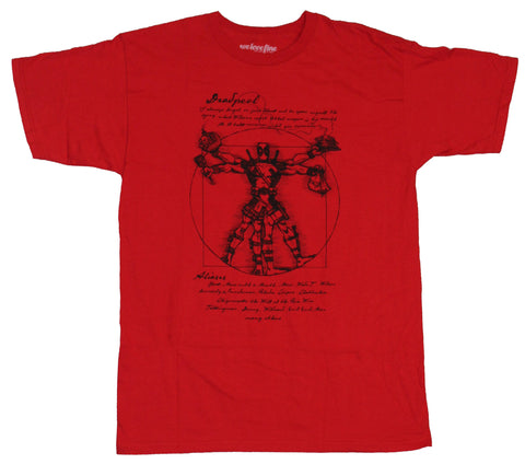 Deadpool (Marvel Comics) Mens T-Shirt - Vitruvian Deadpool Wade Wilson Image - Inmyparentsbasement.com