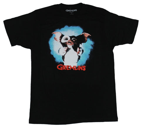 Gremlins Mens T-Shirt - Full Color Gizmo Photo Image Over Red Name - Inmyparentsbasement.com