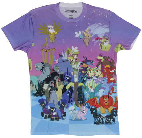 My Little Pony Mens T-Shirt  - Giant Villains Allover Sublimation Style Image - Inmyparentsbasement.com