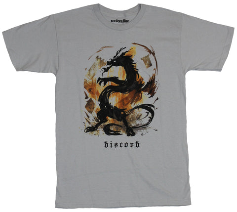 My Little Pony Mens T-Shirt  - Discord Stamped Dragon Flaming Stylize Image - Inmyparentsbasement.com