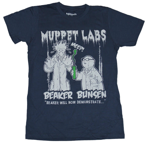 The Muppets Mens T-Shirt  - Muppet Labs Beaker Bunsen Distressed Image