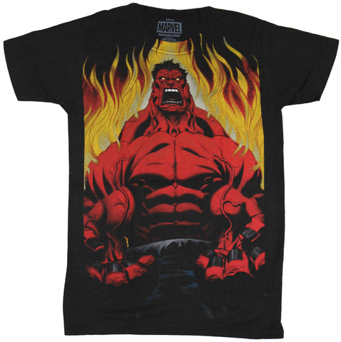 Red Hulk (Marvel Comics) Mens T-Shirt - Fiery Rage Filled Fury Image - Inmyparentsbasement.com