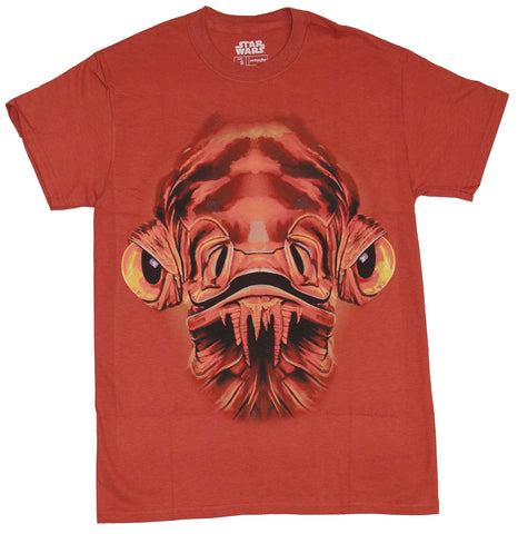 Star Wars Mens T-Shirt - Admiral Ackbar Giant Red Face Image - Inmyparentsbasement.com