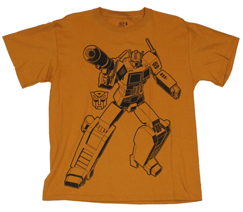 Transformers (Classic 80s Cartoons Style) Mens T-Shirt  - Optimus Prime Line D