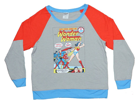 Wonder Woman Girls Juniors Sweatshirt - No Superman Comic Cover