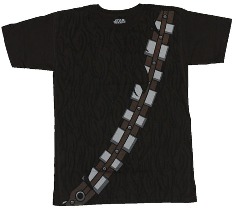 Star Wars Mens T-Shirt - Chewbacca Super Hairy Costume Front