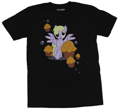 My Little Pony Mens T-Shirt  - Muffins Floating around A Bunch Of Muffins Imag