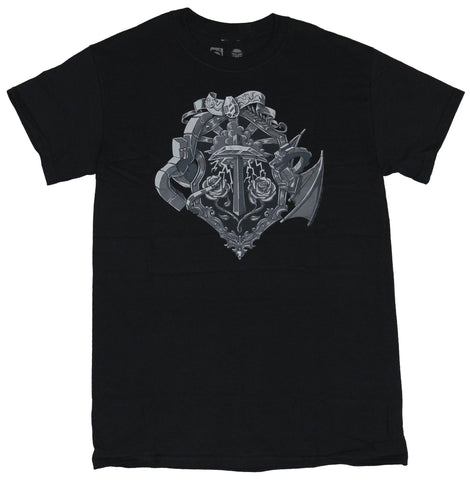 Minecraft Mens T-Shirt  - Ornate Pick Axe Game Crest