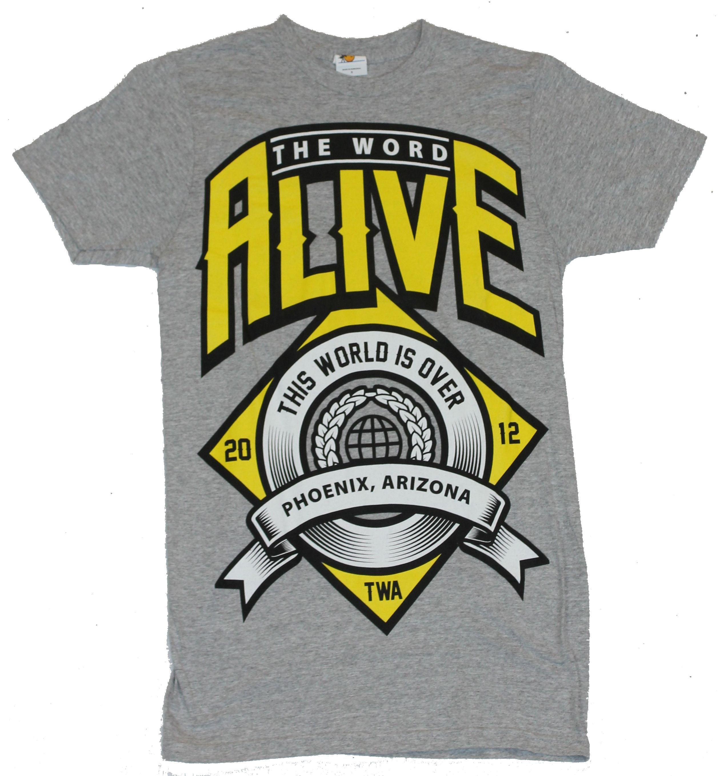 "The Word Alive Mens T-Shirt -  ""The World Is Over"" Crest Image"