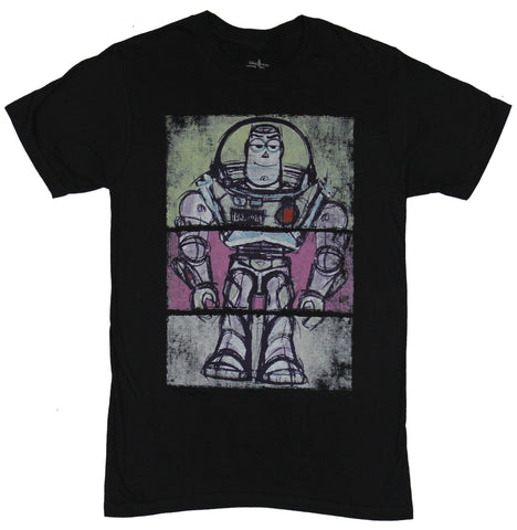 Toy Story Mens T-Shirt - Chalky 3 Piece Buzz Lightyear Image
