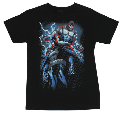 Batman (DC Comics)  Mens T-Shirt -  The Dark Knight Stalked By Bane in the Rain