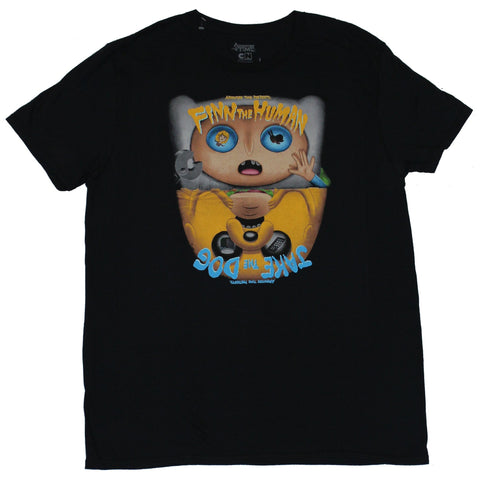 Adventure Time Mens T-Shirt - Presents Finn the Human Jack The Dog Scary Image