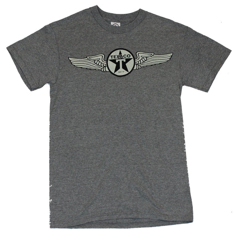 Texaco Mens T-Shirt -  Classic Cream Winged Logo