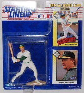 1993 Starting Lineup Baseball Mark McGwire Oakland A's With Poster