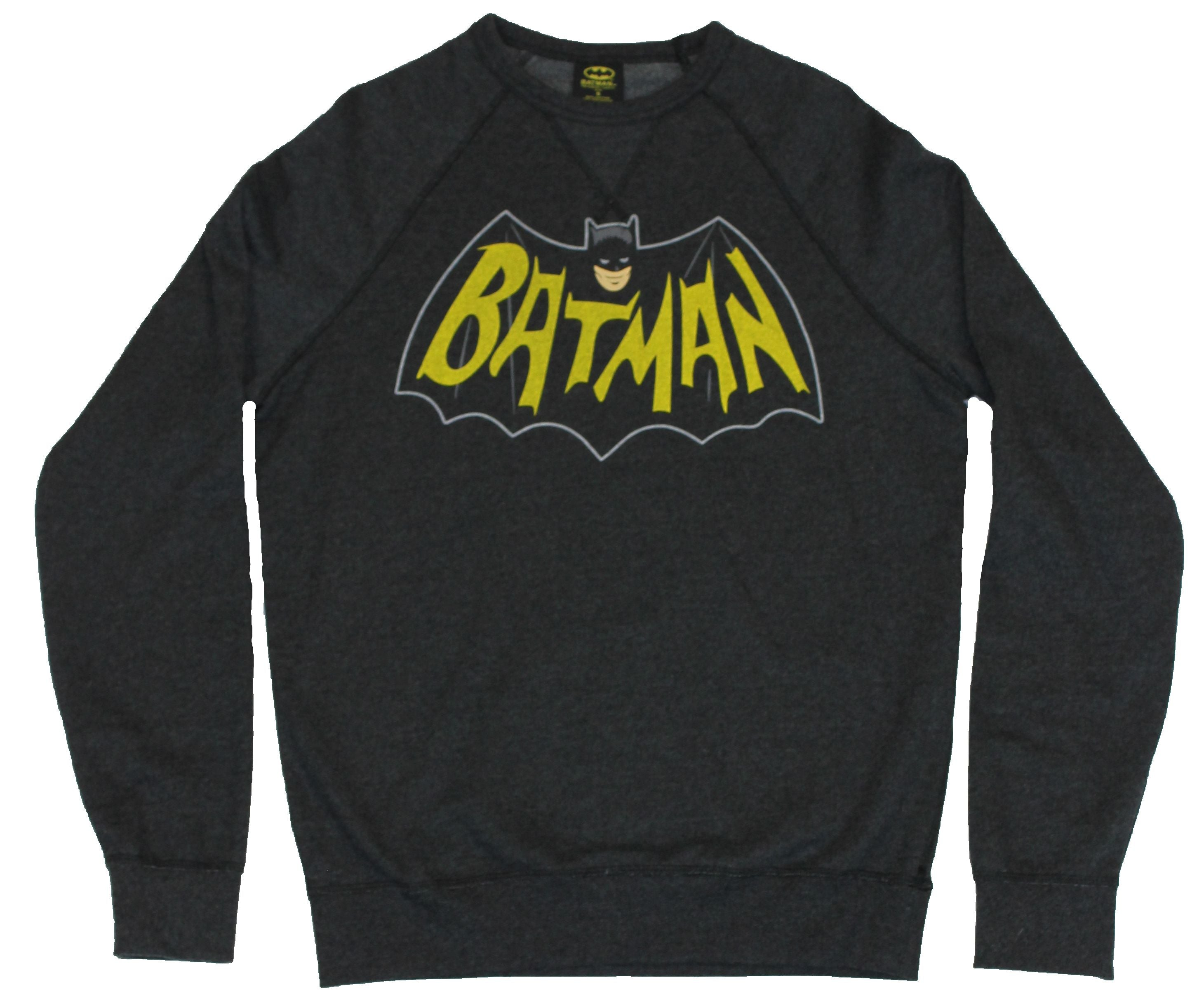 Batman (DC Comics) Crew Neck Sweatshirt -  Classic Bronze Age Batman Logo
