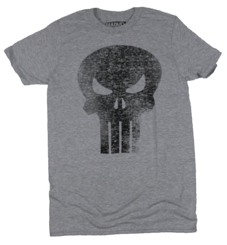 The Punisher Mens T-Shirt - Super Distressed Black Classic Logo