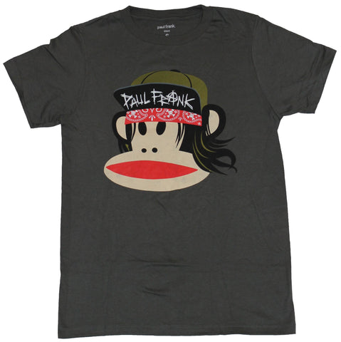 Paul Frank Mens T-Shirt - Hip Hop Monkey in Bandana & Hat Image