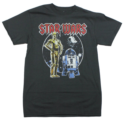 Star Wars Mens T-Shirt - Metal Droids R2-D2 C3-PO Image