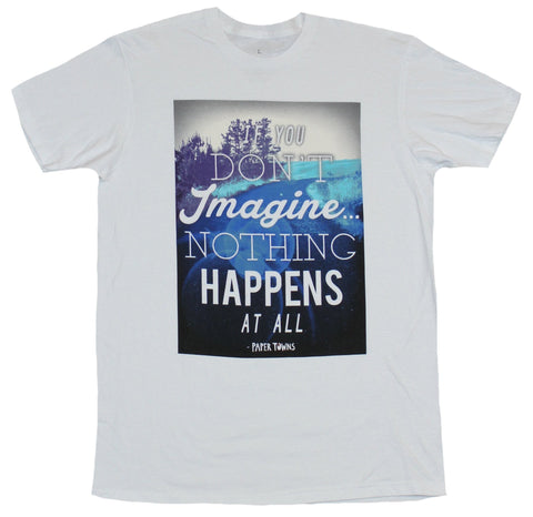 Paper Towns Mens T-Shirt  - Without Imagination Nothing Happens