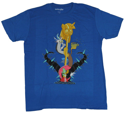 My Little Pony Mens T-Shirt  - Discord With Golden Pony Pole Image