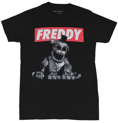 Five Nights At Freddy's Mens T-Shirt - Freddy  Faceless Scary Under Logo - Inmyparentsbasement.com