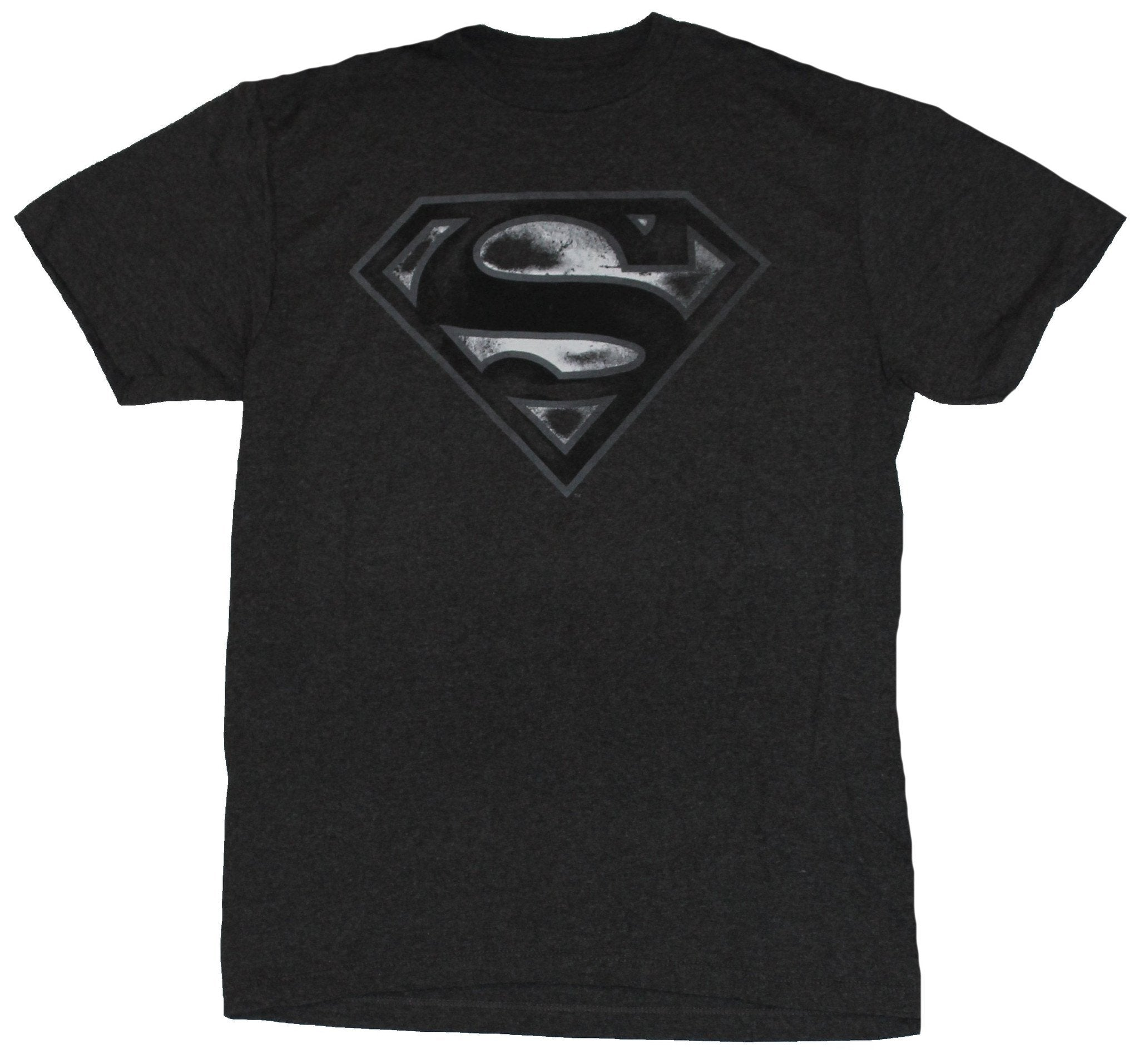 Superman (DC Comics) Mens T-Shirt - Classic White Gray Logo
