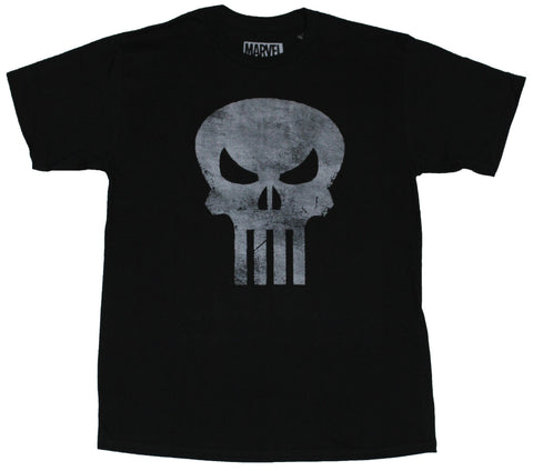 The Punisher (Marvel Comics) Mens T-Shirt - Distressed Classic Skull Logo
