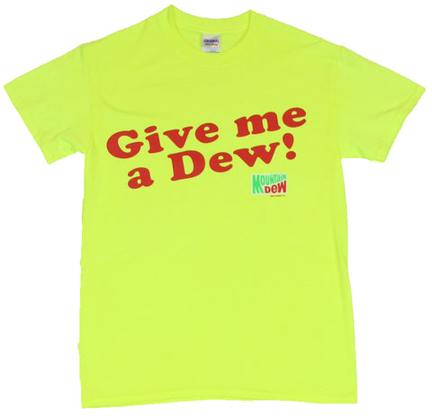 Mountain Dew Mens T-Shirt  - Give Me A Dew! Logo