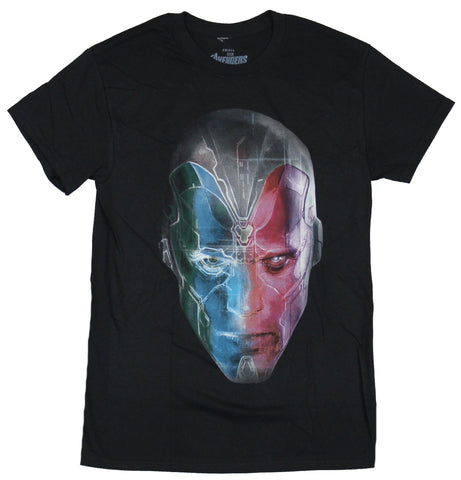 Vison of the Avengers Mens T-Shirt - Computer Circuitry Vison Face Image