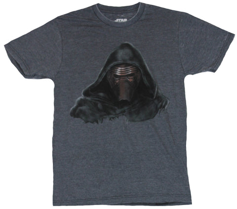 Star Wars Mens T-Shirt - Kylo Ren The Force Awakens Scary Face