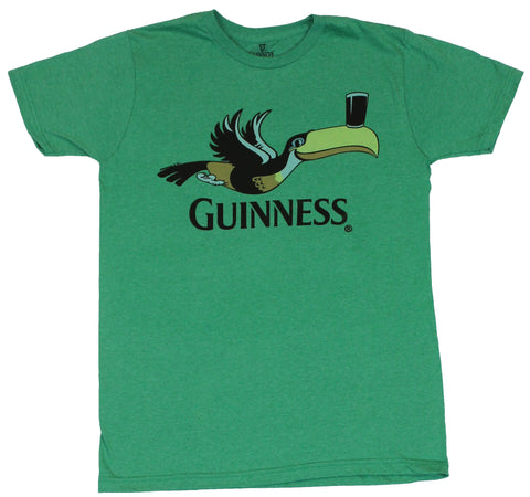 Guinness Beer  Mens T-Shirt -  Flying Beer Nosed Tucan Image