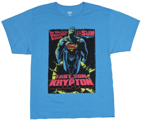 Superman (DC Comics) Mens T-Shirt - Last Son of Krypton Space Flying Box Image