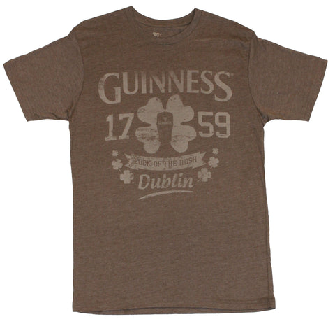 Guinness Mens T-Shirt - 1759 Luck of the Irish Dubin Shamrock Crest
