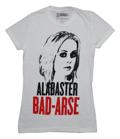 I-Zombie Girls Juniors T-Shirt - Alabaster Bad-Arse Portrait Image