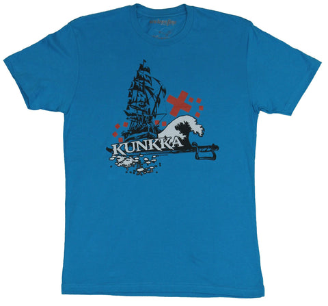 Dota 2 Mens T-Shirt - Kunkka Ship Treasure Map Pirate Image