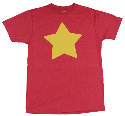 Steven Universe Mens T-Shirt - Gold Star Red Costume Front Image