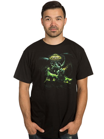 World Of Warcraft Mens T-Shirt - Green Tinted Lord of The Outland