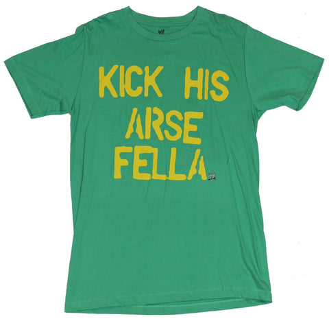 "WWE Mens T-Shirt -  ""Kick His Arse Fella"" Sheamus Word Logo"