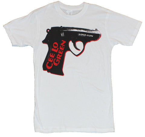 Cee Lo Green Mens T-Shirt  - Love Gun Image on White