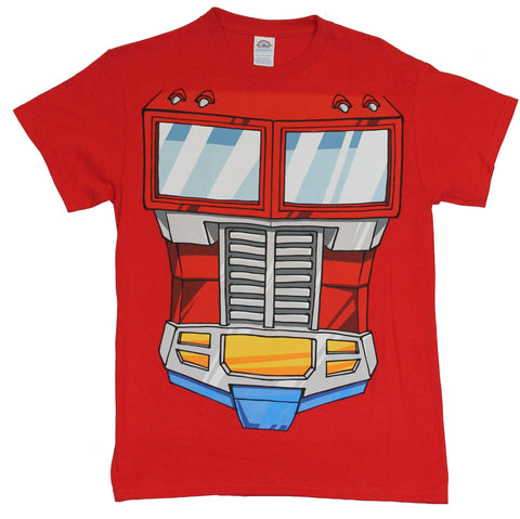 Transformers Mens T-Shirt - Optimus Prime Truck Grill Costume Front Image
