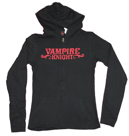 Vampire Knight Girls Juniors Zip Up Hoodie -  Logo Front Cast Back