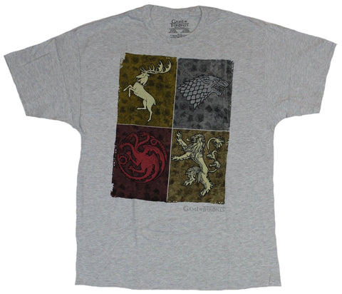 Game of Thrones Mens T-Shirt - Colorful House Box Collection
