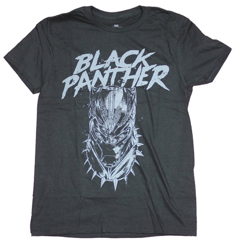 Black Panther Mens  T-Shirt - Gray Sketch Face Under Name