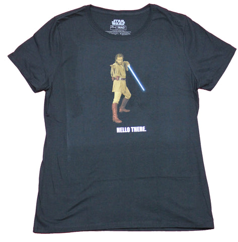 Star Wars Mens T-Shirt  - Hello There Obi Wan General Grievous Back