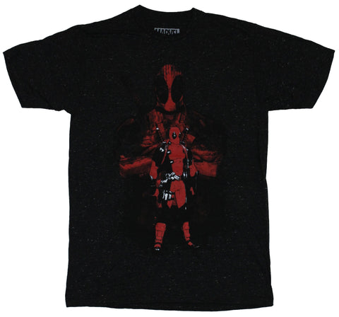 Deadpool (Marvel Comics) Mens T-Shirt - Standing Wade Wilson in His Own Shadow