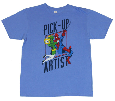 Spider-Man (Marvel Comics) Mens T-Shirt - Pick Up Artist Drastic Logo