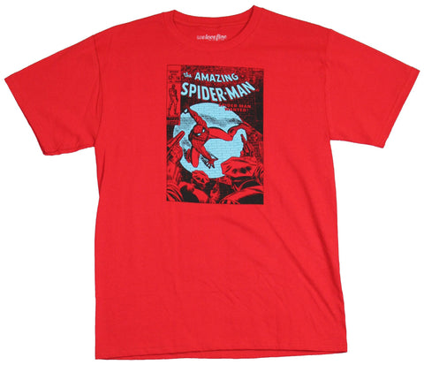 Spider-man (Marvel Comics) Mens T-Shirt - Wanted red Print Issue 70 Cover Image