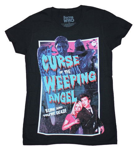 Doctor Who Girls Juniors T-Shirt - Curse of the Weeping Angel Poster